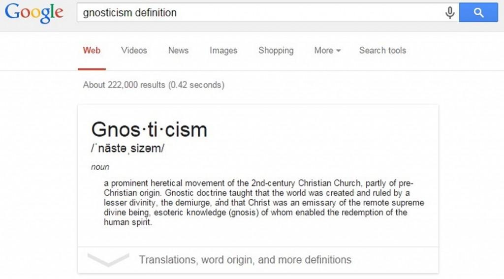 Google Gnosticism